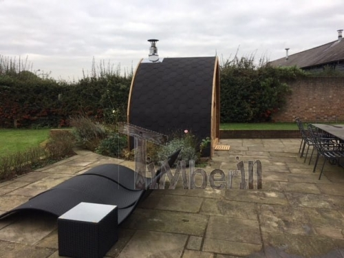 "2 M Small Outdoor Sauna Iglu With Wood Fired ""Harvia"" Heater, Peter Gales, Hertfordshire, UK (2)"