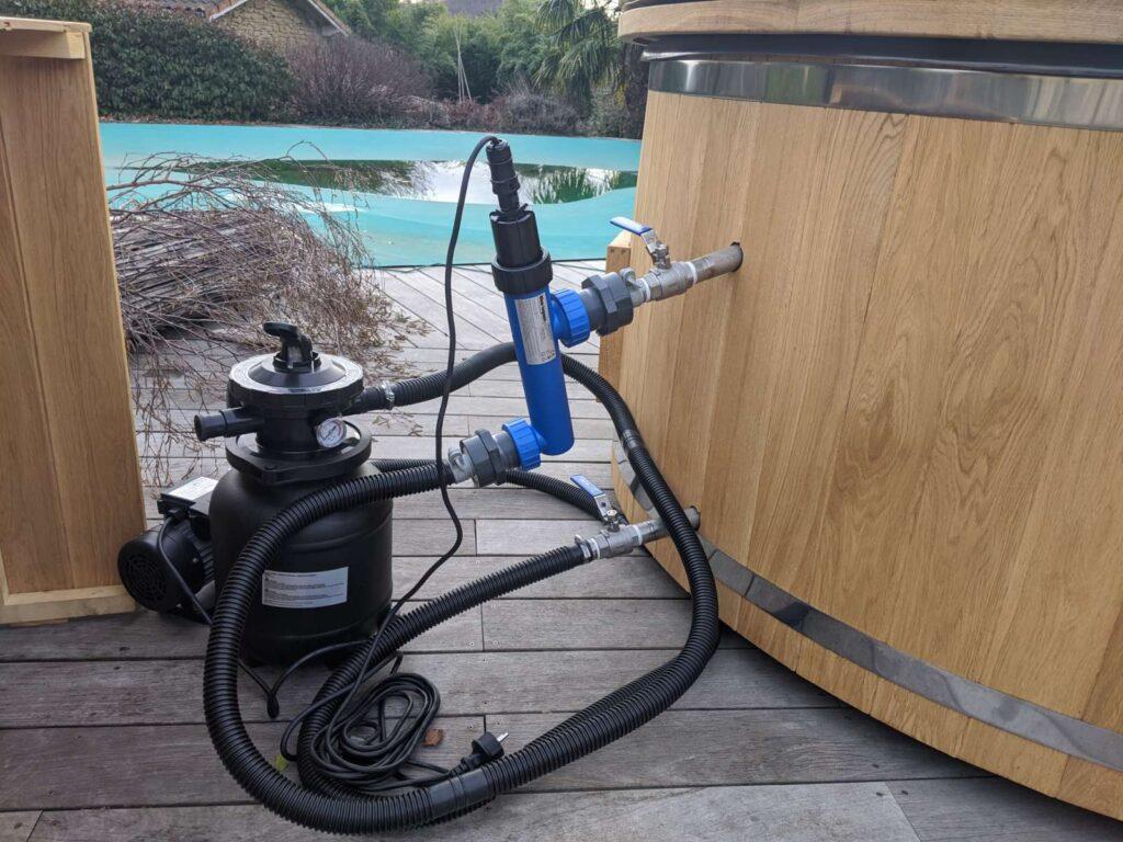 Badestampfiltreringssystem