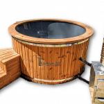 Vasca idromassaggio esterno whirlpool stufa esterna: legna gasolio gas