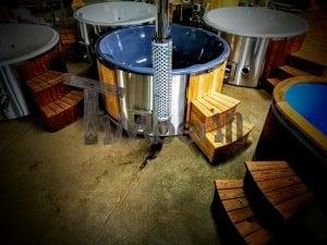 Vasca Idromassaggio In Vetroresina Con Stufa Integrato Wellness Royal TimberIN 17