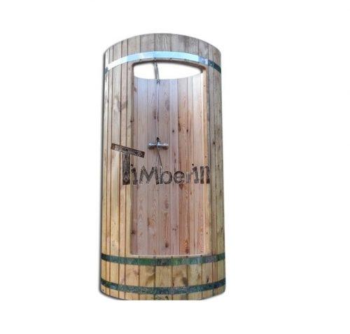 doccia in legno esterno