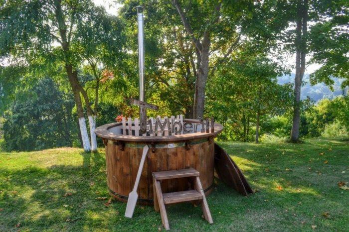 Vasca Da Esterno Riscaldata : Vasche tinozze a botte in legno per esterno