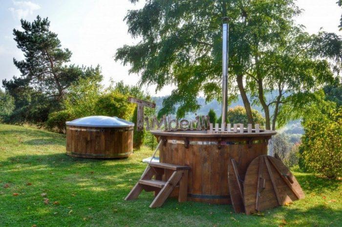 Vasca Da Esterno Riscaldata : Vasche da bagno a legna da esterno timberin
