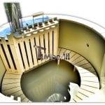 vasca idromassaggio in polipropilene con 2 LED, filtrazione e isolamento delle pareti (16)