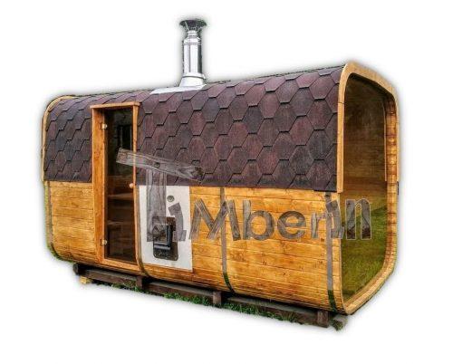 Giardino Esterno Sauna Rettangolare TimberIN