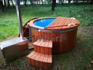Hot Tub Idromassaggio In Vetroresina Con Stufa Esterna TimberIN 23