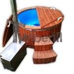 Hot Tub Idromassaggio In Vetroresina Con Stufa Esterna TimberIN Main