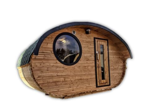 Sauna Da Esterno Ovale In Legno Hobbit 101