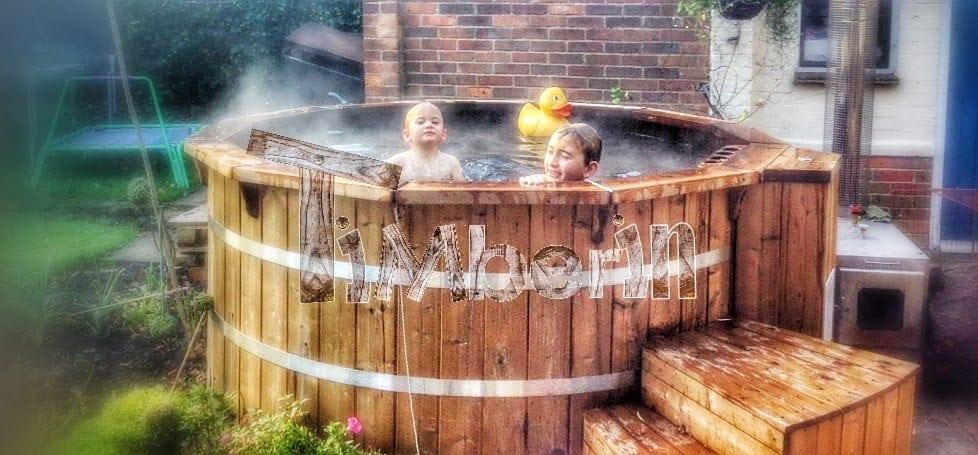 Tinozza da bagno hot tub in legno timberin - Tinozza da bagno ...