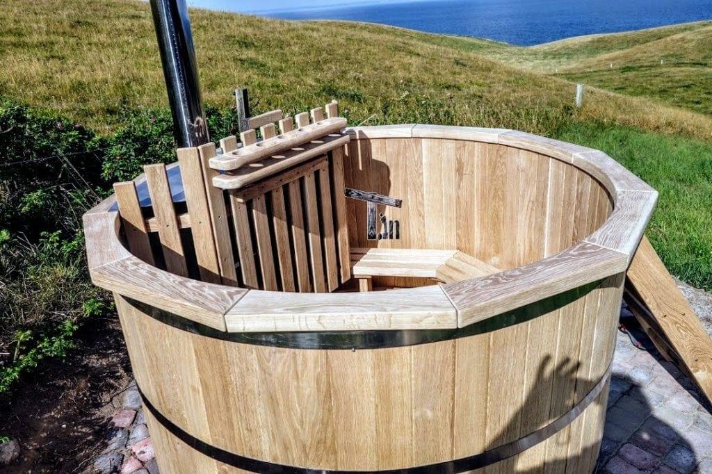 Vasca Da Esterno Riscaldata : Hot tubs in legno vasca tinozza da esterno in giardino timbertemp