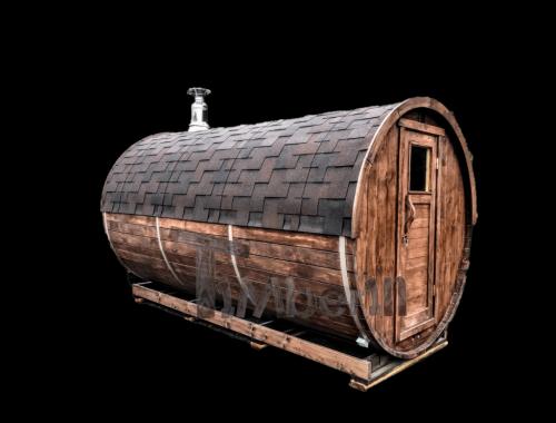 Sauna finlandese da esterno a botte