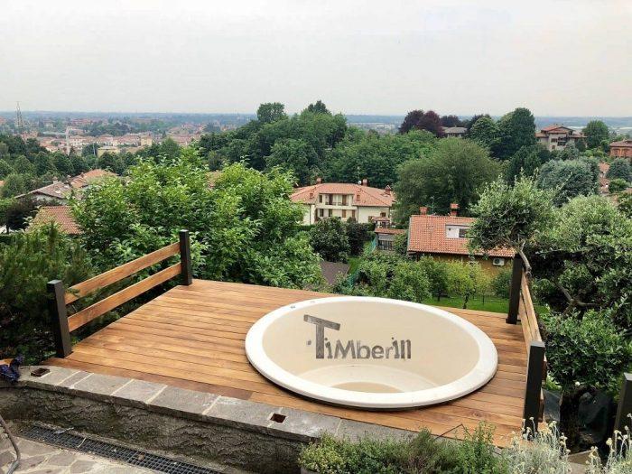 Spa Tinozza In Vetroresina Modello Di Terrazzo – Classic, Filippo, Italia