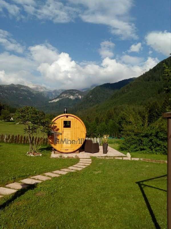 Sauna Rotonda Esterna A Botte, Lara E Nilo, Trento, Italia (4)