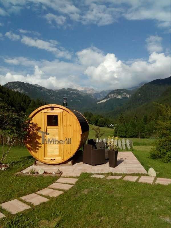 Sauna Rotonda Esterna A Botte, Lara E Nilo, Trento, Italia (5)