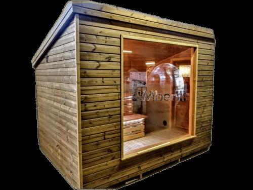 Sauna da esterno moderne per giardino
