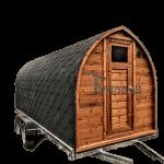 Sauna Igloo A Botte All'aperto Con Caminetto E Forno A Legna (1)