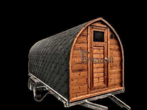 Saune da esterno per giardino Iglu sulle ruote - rimorchio